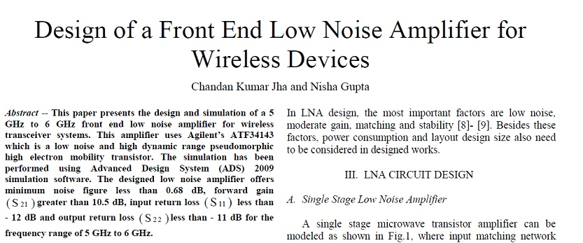 Low Noise Amplifier