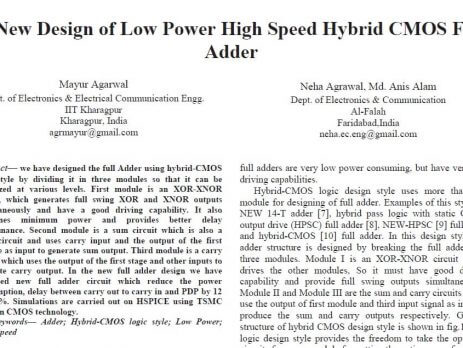 High Speed Hybrid CMOS