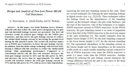 Low Power SRAM