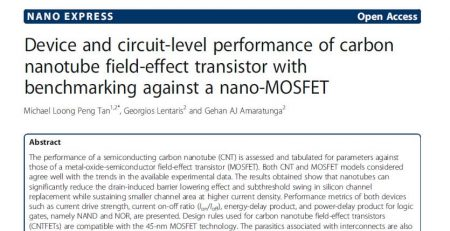 carbon nanotube field-effect transistor