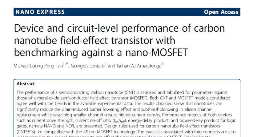 carbon nanotube field-effect transistor