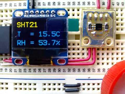 SHT21 و نمایش مقدار و نمودار روی glcd